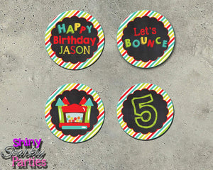 Printable Bounce House Cupcake Toppers (Digital File Only)-Digital Download, Printable File-Forever Fab Boutique