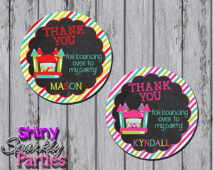 Printable Bounce House Favor Tags (Digital File Only)-Digital Download-Forever Fab Boutique