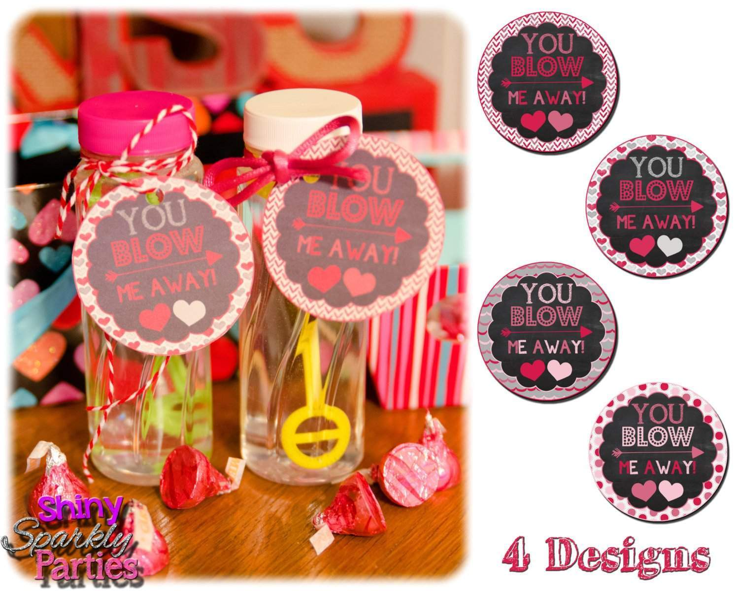 photo relating to Bubble Valentine Printable called Bubble Valentine Tags