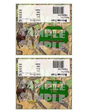 Printable Camo Hunting Candy Bar Wrappers (Digital File Only)-Digital Download-Forever Fab Boutique