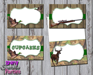 Printable Camo Hunting Food Tent Signs Editable (Digital File Only)-Digitial Download,Printable File-Forever Fab Boutique