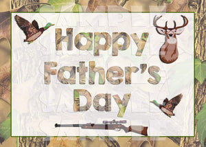 Printable Camo Hunting Themed Father's Day Card (Digital File Only)-Digital Download,Printable File,Instant Download-Forever Fab Boutique