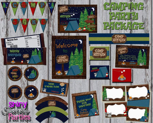 Printable Camping Birthday Party Package (Digital Files Only)-Digital Download-Forever Fab Boutique