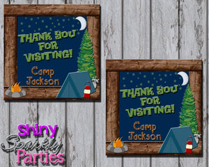 Printable Camping Party Favor Tags (Digital File Only)-Digital Download-Forever Fab Boutique