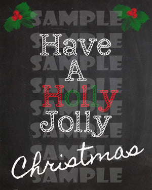 Printable Chalkboard Christmas Art Signs (Digital Files Only)-Forever Fab Boutique