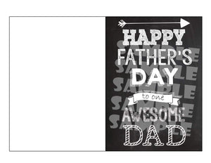 Printable Chalkboard Father's Day Card (Digital File Only)-Digital Download,Printable File,Instant Download-Forever Fab Boutique