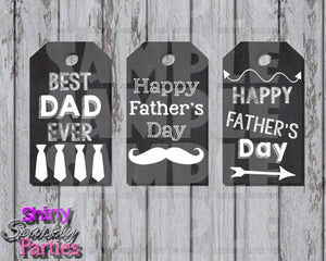 Printable Chalkboard Father's Day Gift Tags (Digital File Only)-Instant Download,Printable File,Digital Download-Forever Fab Boutique