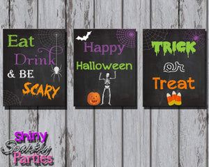 Printable Chalkboard Halloween Decoration Signs (Digital Files Only)-Forever Fab Boutique