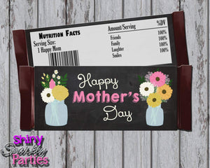 Printable Chalkboard Mother's Day Candy Bar Wrappers (Digital File Only)-Printable File,Digital Download-Forever Fab Boutique