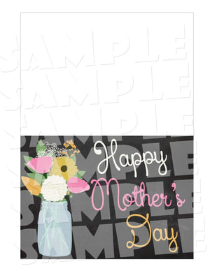 Printable Chalkboard Mother's Day Card (Digital File Only)-Digital Download,Printable File-Forever Fab Boutique