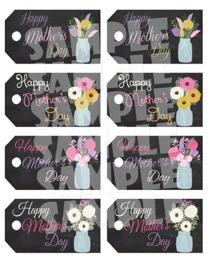 Printable Chalkboard Mother's Day Gift Tags (Digital File Only)-Digital Download,Printable File-Forever Fab Boutique
