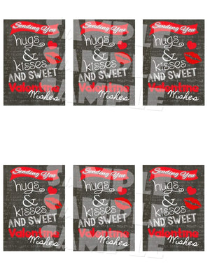 Printable Chalkboard Valentine Cards (Digital File Only)-Forever Fab Boutique
