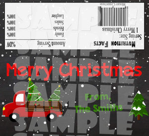 Printable Christmas Candy Bar Wrappers (Digital File Only)-Digital Download-Forever Fab Boutique