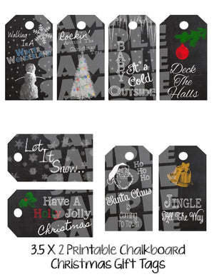 Printable Christmas Gift Tags (Digital File Only)-Forever Fab Boutique