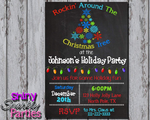 Printable Christmas Party Invitation (Digital File Only)-Digital Download-Forever Fab Boutique