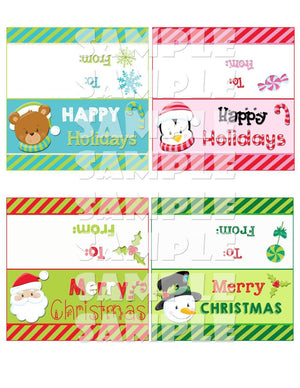 Printable Christmas Treat Bag Toppers (Digital File Only)-Forever Fab Boutique