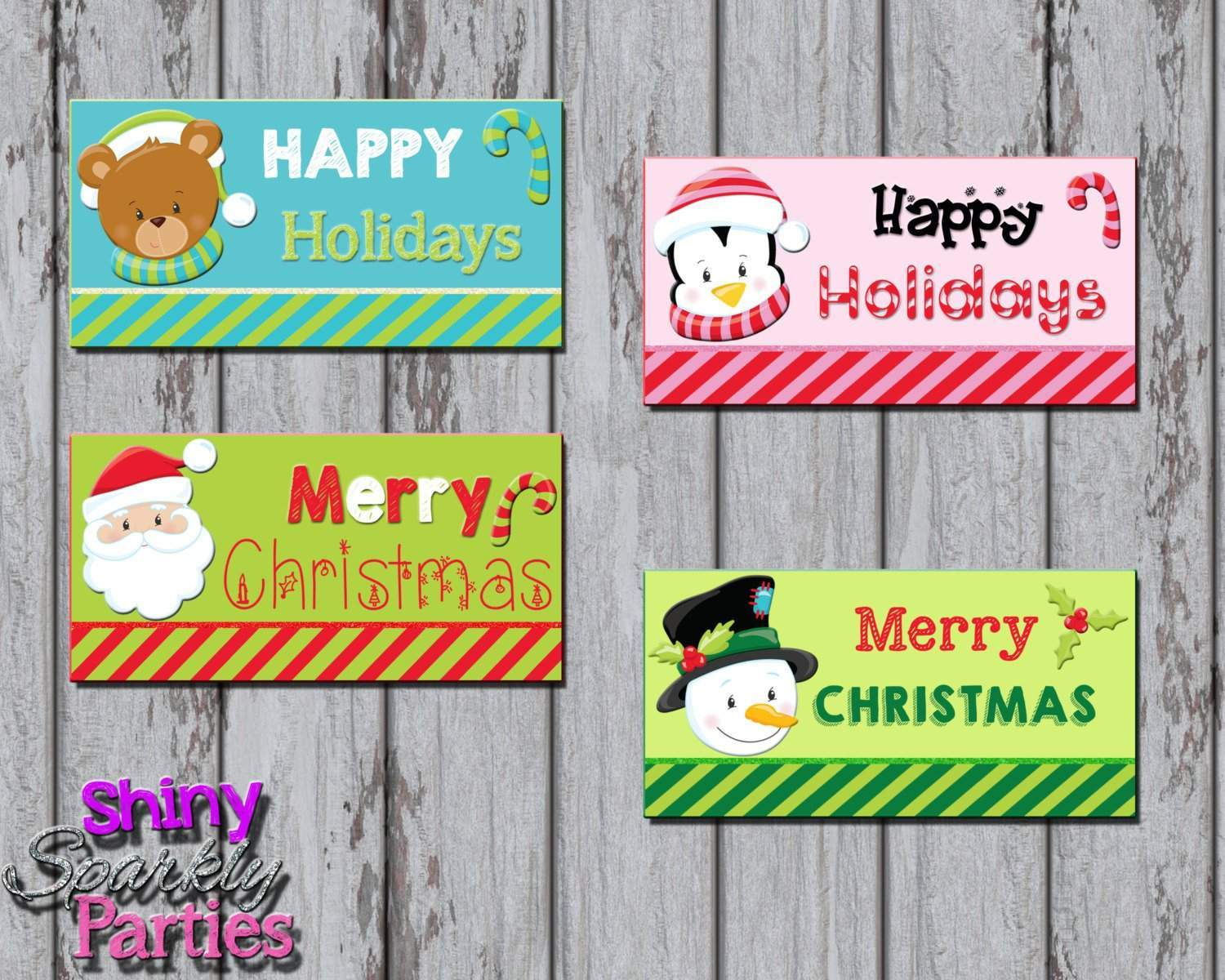 photograph relating to Printable Bag Toppers identified as Xmas Take care of Bag Toppers