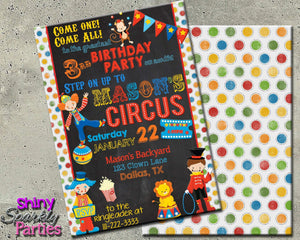 Printable Circus Birthday Invitation (Digital File Only)-Digital Download-Forever Fab Boutique