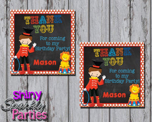 Printable Circus Birthday Party Favor Tags (Digital File Only)-Digital Download-Forever Fab Boutique