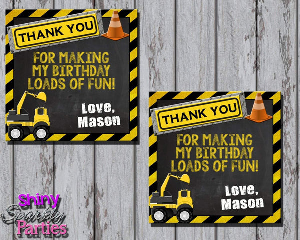 Printable Construction Birthday Party Favor Tags (Digital File Only)-Digital Download-Forever Fab Boutique