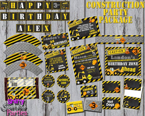 Printable Construction Birthday Party Package (Digital Files Only)-Digital Download-Forever Fab Boutique