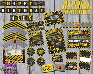 Printable Construction Candy Bar Wrappers (Digital File Only)-Digital Download-Forever Fab Boutique