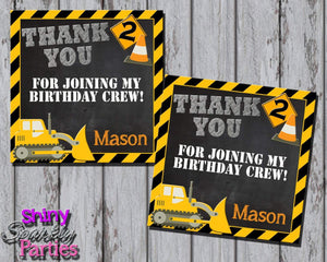 Printable Construction Favor Tags (Digital File Only)-Digital Download-Forever Fab Boutique