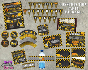 Printable Construction Party Package (Digital Files Only)-Digital Download,Printable Files-Forever Fab Boutique