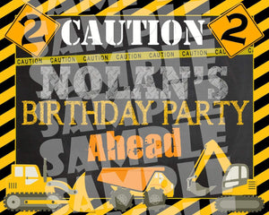 Printable Construction Party Sign (Digital File Only)-Digital Download,Printable File-Forever Fab Boutique