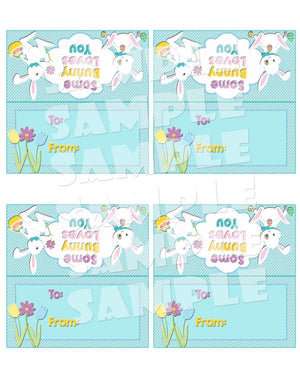 Printable Easter Bunny Treat Bag Toppers (Digital File Only)-Forever Fab Boutique
