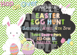Printable Easter Egg Hunt Invitation (Digital File Only)-Digital Download-Forever Fab Boutique