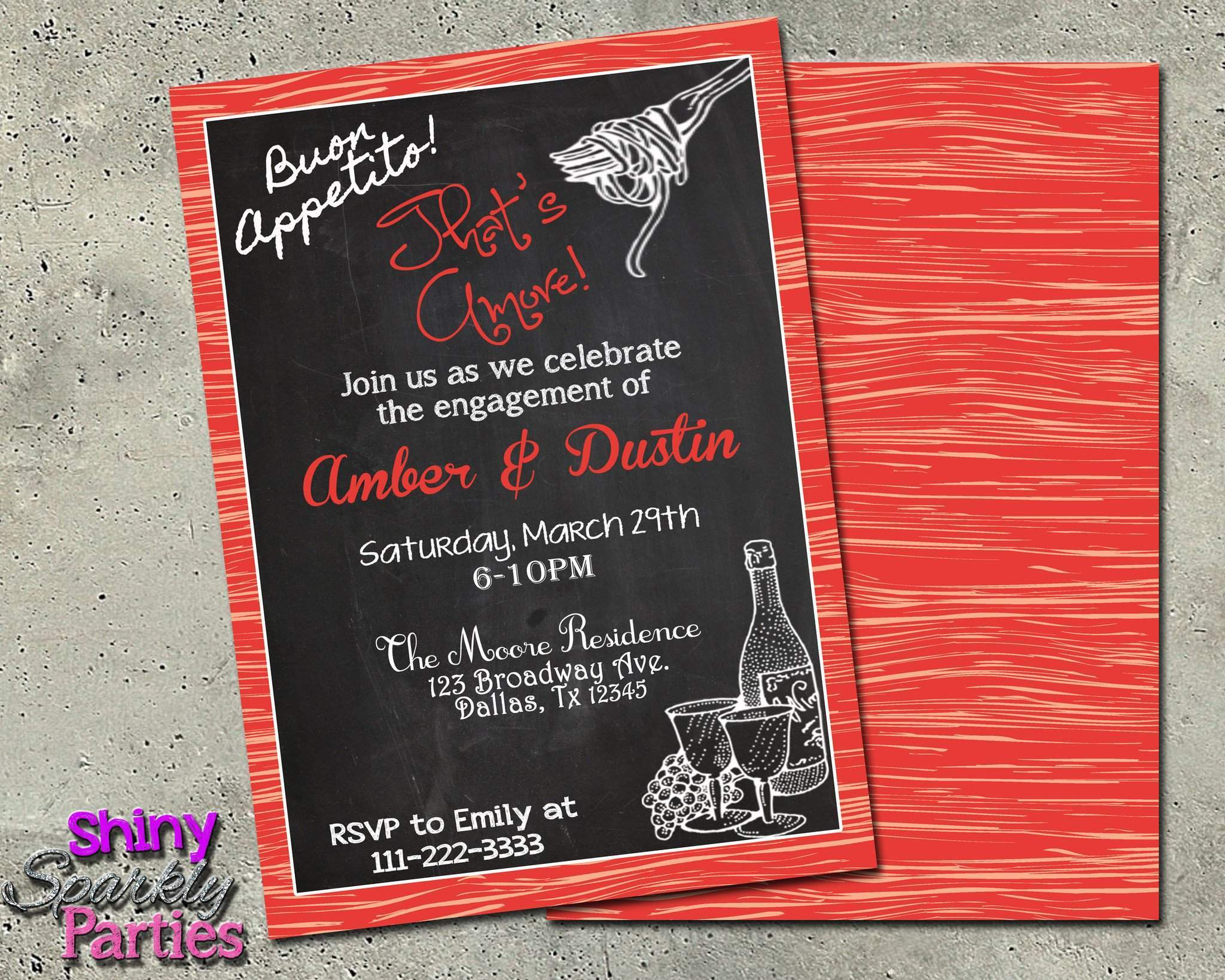 Engagement Party Invitation Forever Fab Boutique