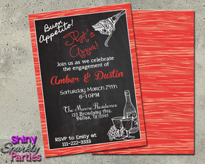 Printable Engagement Party Invitation (Digital File Only)-Digital Download, Printable File, Invitation-Forever Fab Boutique