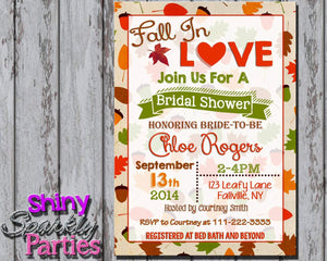 Printable Fall Bridal Shower Invitation (Digital File Only)-Digital Download-Forever Fab Boutique