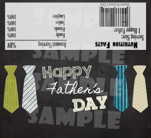 Printable Father's Day Candy Bar Wrappers (Digital File Only)-Printable File,Digital Download,Instant Download-Forever Fab Boutique