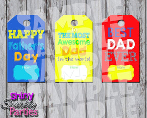 Printable Father's Day Gift Tags (Digital File Only)-Digital Download,Printable File-Forever Fab Boutique