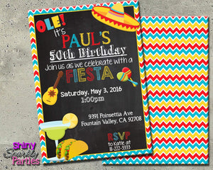 Printable Fiesta Birthday Party Invitation (Digital File Only)-Digital Download-Forever Fab Boutique