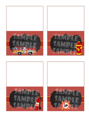 Printable Firetruck Food Tent Signs Editable (Digital File Only)-Forever Fab Boutique