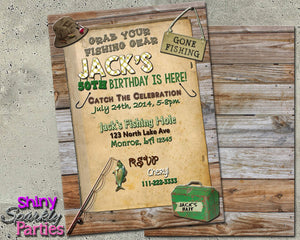 Printable Fishing Birthday Invitation (Digital File Only)-Digital Download-Forever Fab Boutique