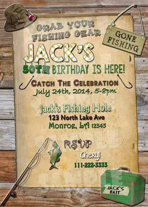 Printable Fishing Birthday Party Package (Digital Files Only)-Digital Download-Forever Fab Boutique