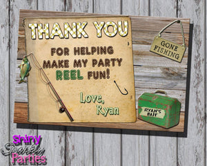 Printable Fishing Birthday Thank You Card (Digital File Only)-Digital Download-Forever Fab Boutique