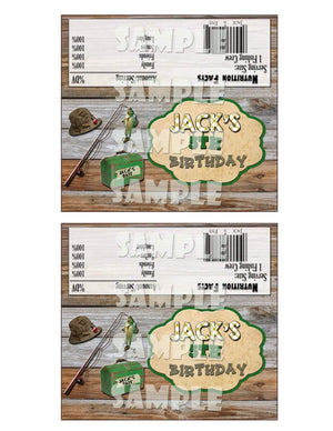 Printable Fishing Candy Bar Wrappers (Digital File Only)-Digital Download-Forever Fab Boutique