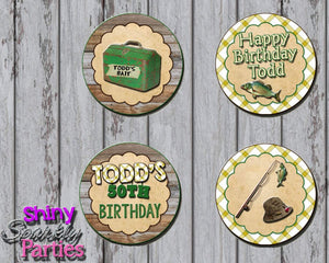 Printable Fishing Cupcake Toppers (Digital File Only)-Digital Download-Forever Fab Boutique