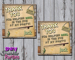 Printable Fishing Party Favor Tags (Digital File Only)-Digital Download-Forever Fab Boutique