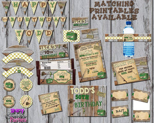 Printable Fishing Pendant Party Banner (Digital Files Only)-Digital Download-Forever Fab Boutique