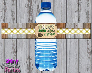 Printable Fishing Water Bottle Labels (Digital File Only)-Digital Download-Forever Fab Boutique