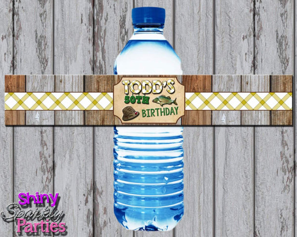 Fishing Water Bottle Labels - Forever Fab Boutique