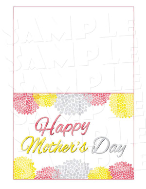 Printable Flowered Mother's Day Card (Digital File Only)-Digital Download,Printable File-Forever Fab Boutique