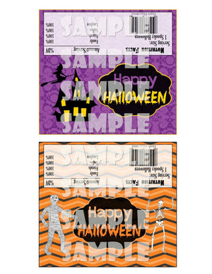 Printable Halloween Candy Bar Wrappers (Digital File Only)-Forever Fab Boutique