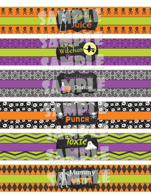 Printable Halloween Water Bottle Labels (Digital File Only)-Forever Fab Boutique